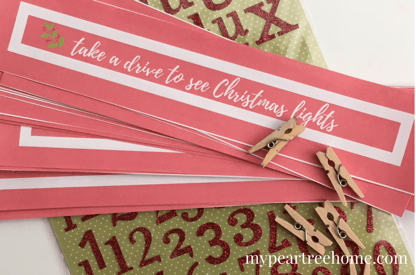 Want an easy way to make memories each day this holiday season? Free printable for busy families that want to be intentional this Christmas. Click to post!
