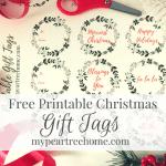 Printable Christmas Gift Tags & Pretty Bow Tutorial