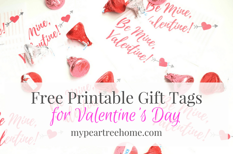 picture regarding Valentines Gift Tags Printable called Free of charge Valentines Working day Printable My Pear Tree Dwelling