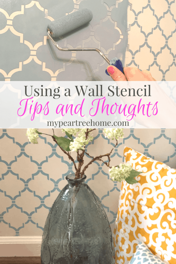 """Wall stencils are quite popular at the moment and give you a lot of """"bang for your buck"""". Curious about the process and want to get started? Click to the post for tips for success!"""