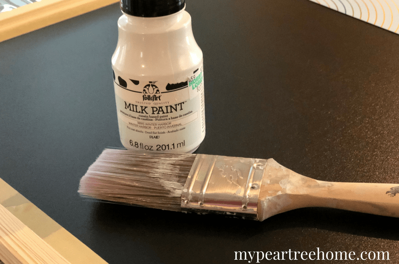 Love farmhouse or cottage look? This easy, affordable idea will show you everything that is RIGHT about a chalkboard in your kitchen! Spruce up your space on the cheap! Click to the post for the details!