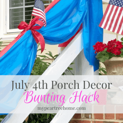 Use items from Dollar Tree to create your own DIY patriotic bunting