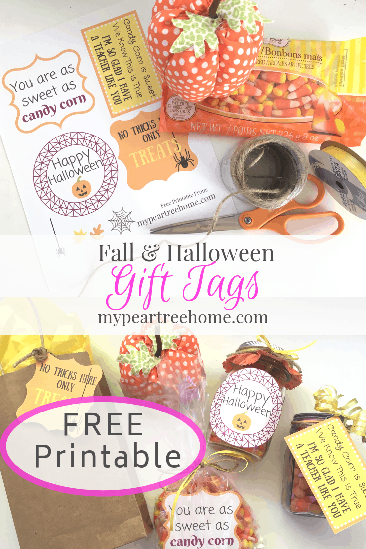 A bag of candy corn and these FREE printable gift tags are all you need to spread some autumn cheer to someone you know! Click to the post to get some!