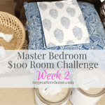 $100 Room Challenge: Master Bedroom Week 2