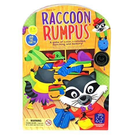 Raccoon Rumpus Game - Matching Game