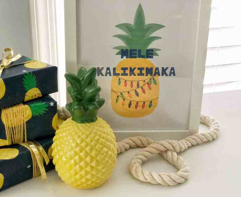 Add some pineapple whimsy to your Christmas decor with this adorable holiday printable. Mele Kalikimaka, friends. Click to the post to print your free holiday coastal printable!