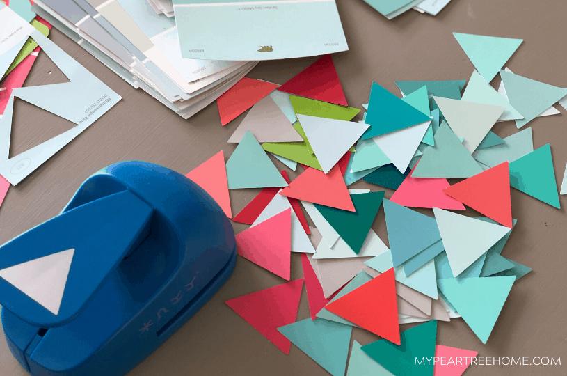 easy paint chip art DIY