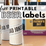 """Dad Jokes"" Printable Beer Labels"