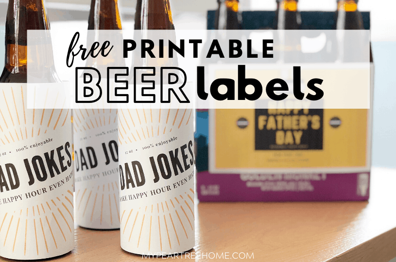 printable beer labels for father's day