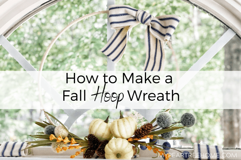 fall hoop wreath DIY