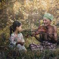 """Grandpa thank you for the music"" by Eureka C.Bianzon"