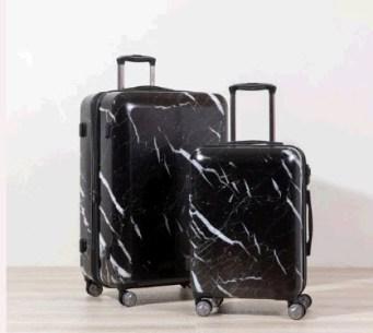 Black Marble Luggage Set