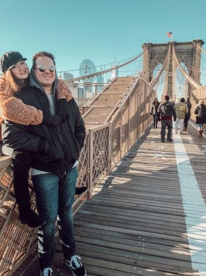 Couples at Brookyln Bridge NYC