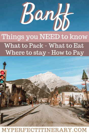 Things to know before traveling to Banff in the winter