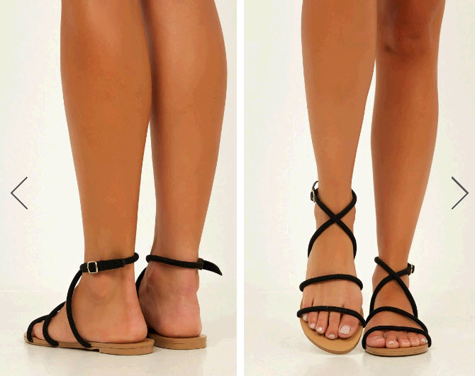 Black and Brown Sandals for summer travel