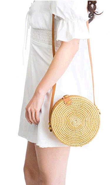 Round Rattan Bag for Summer travel
