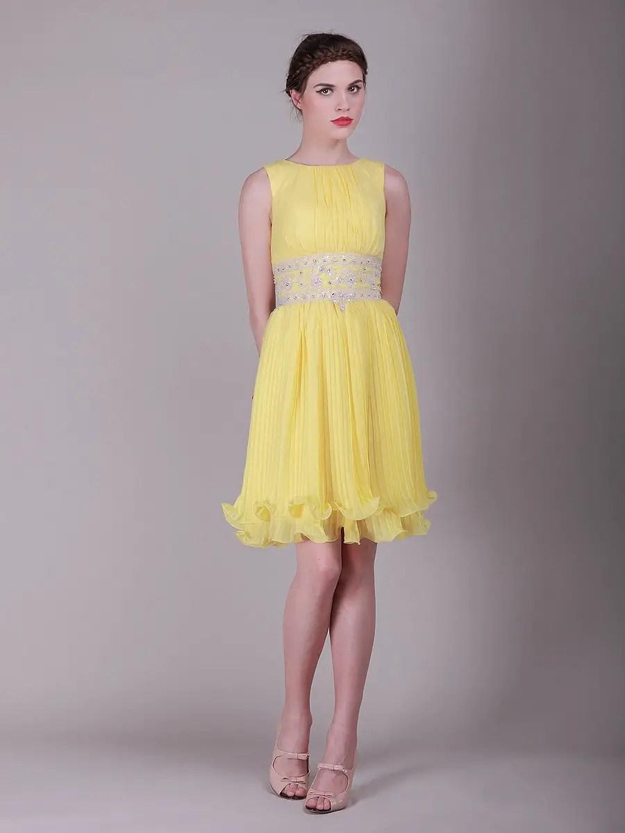 Dress yellow and gray