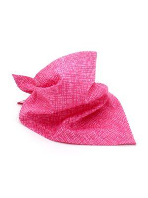 Bandana para Cachorro Rosa Estampa Riscadinho