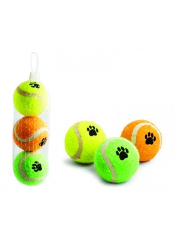Bola de Tenis para Cães Kit com 3