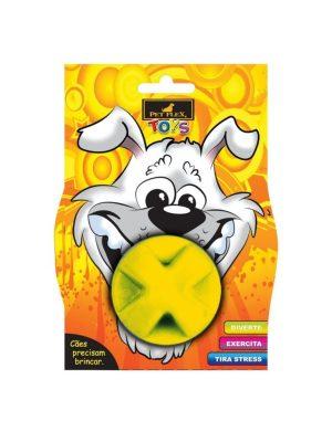 Bolinha Maciça Cães 75mm Amarela Pet Flex
