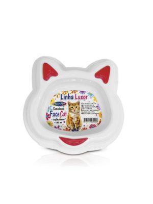 Comedouro Luxor Face Cat 130ml Vermelho