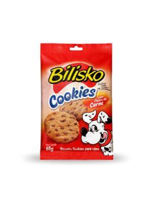 Cookies Bilisko Cães 65g sabor Carne - 10 unidades