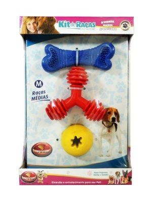 Kit de Brinquedos para Cães com 3UN Furacão Pet