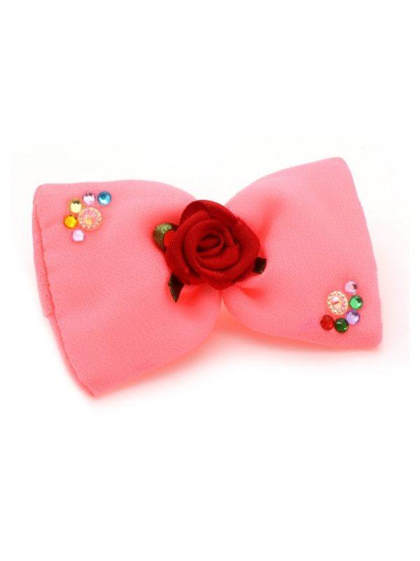 Laço Rosa Chiclete Para Topete Coleção Princesas
