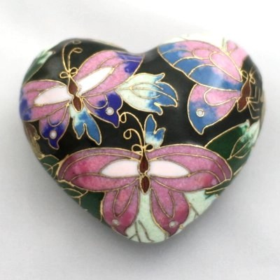 Pet Keepsake Cloisonné Hearts: Radiant Butterfly