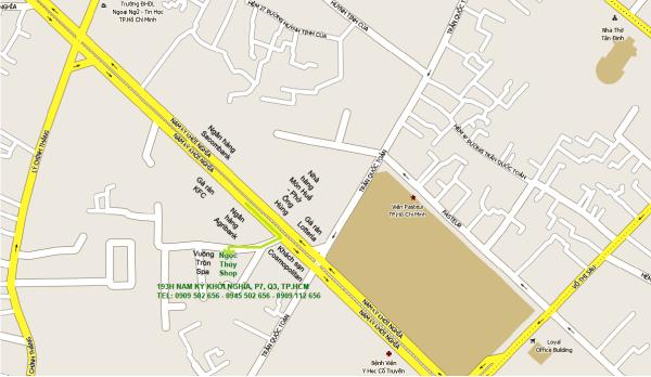 Bản đồ cửa hàng mỹ phẩm Oriflame Ngọc Thúy Shop