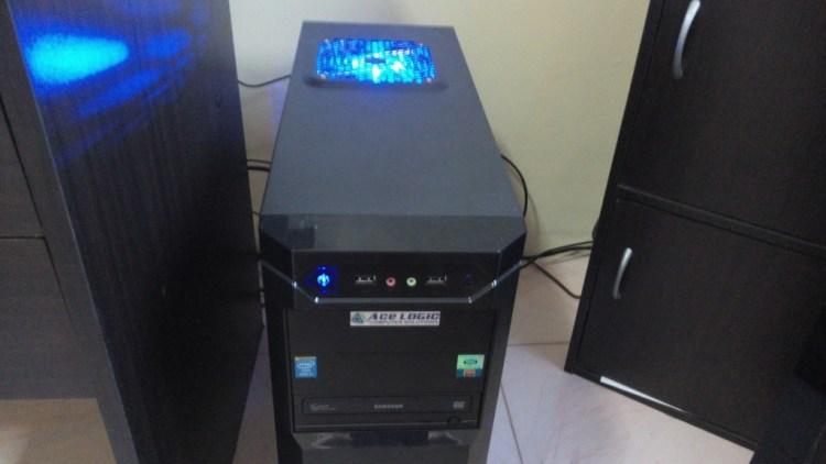 Our new desktop - it glows!!