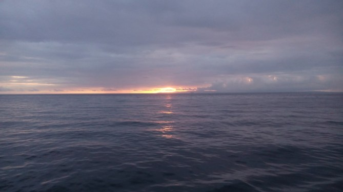 Duma sunrise on ferry to cebu