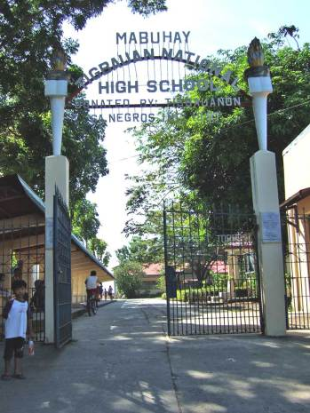 Tigbauan National High School entrance gate