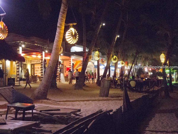 Boracay's White Beach path at night - not for the solitude-seeker!