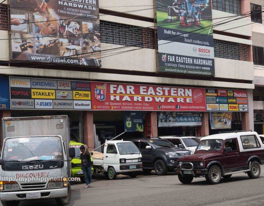 Far Eastern Hardware on Quezon Street. Iloilo City