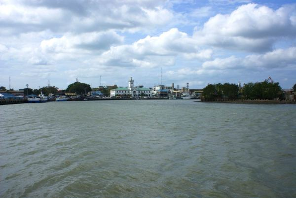 Iloilo River with Customs House in background.  Photo taken at ferry dock for Bacolod ferries.