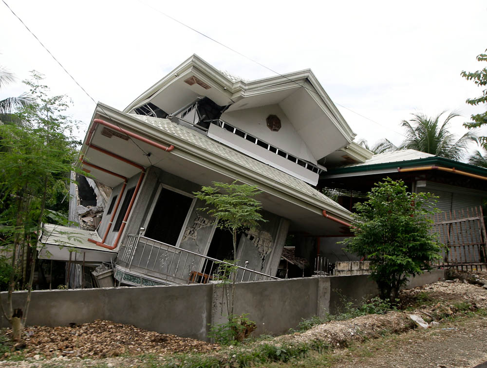 Maribojoc Bohol Damaged House My Philippine Life