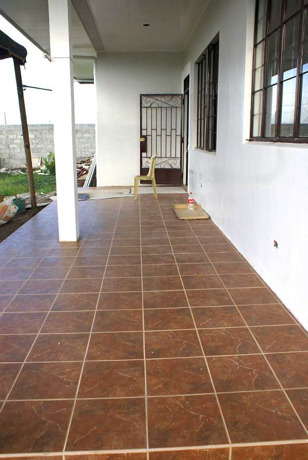 Spanish porch tile