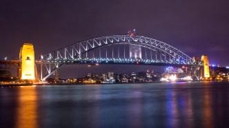 The beautiful Sydney Harbor Bridge as it looks from Opera House. Travel Australia Photos Sydney Photos