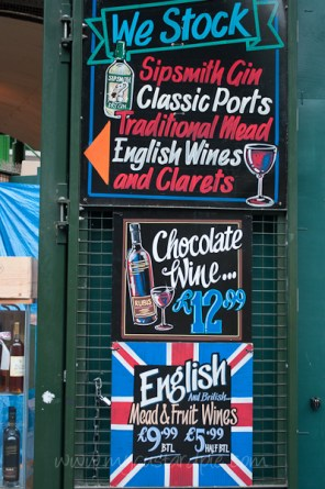 Wine stall sign
