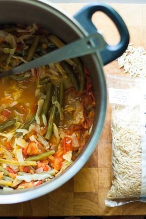 Farmers market soup