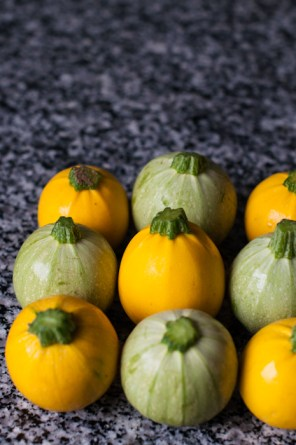 Round courgettes