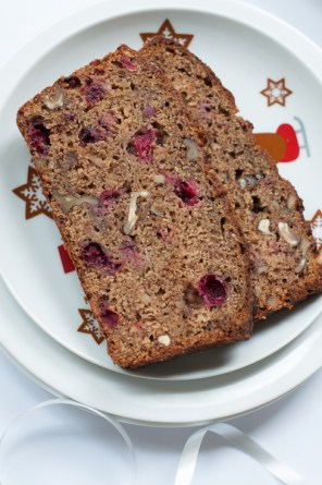 courgette and cranberry loaf
