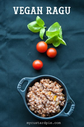 Vegan buckwheat ragu