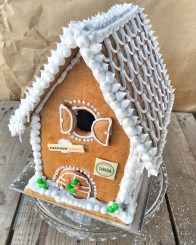 Gingerbread house kit from Freedom pizza - In My Kitchen December on mycustardpie.com