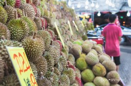 durian stall - geylang, singapore