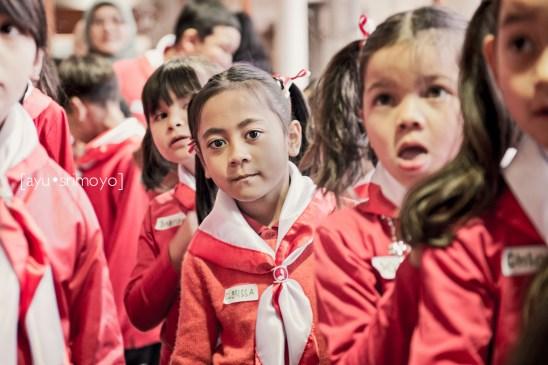 lining up - Indonesian Independence Day Celebration