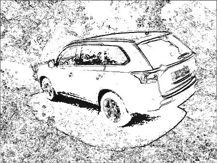 Umriss Auto