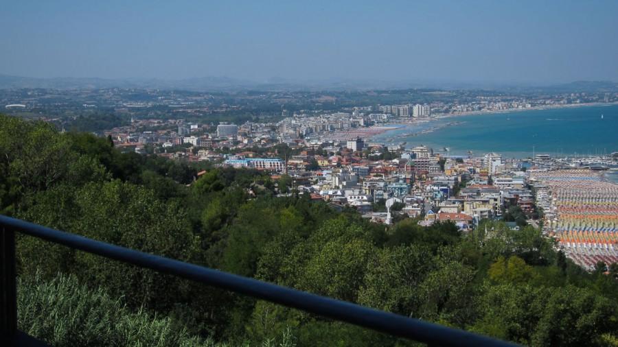Gabicce Monte mit Blick auf Cattolica