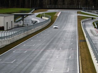 Toyota GT86 on racetrack